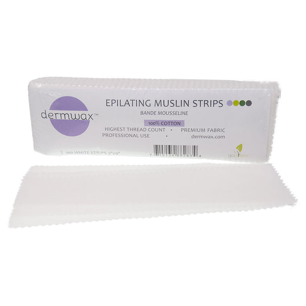 "Muslin Strip White 3"" x 9"" - 100/PK"