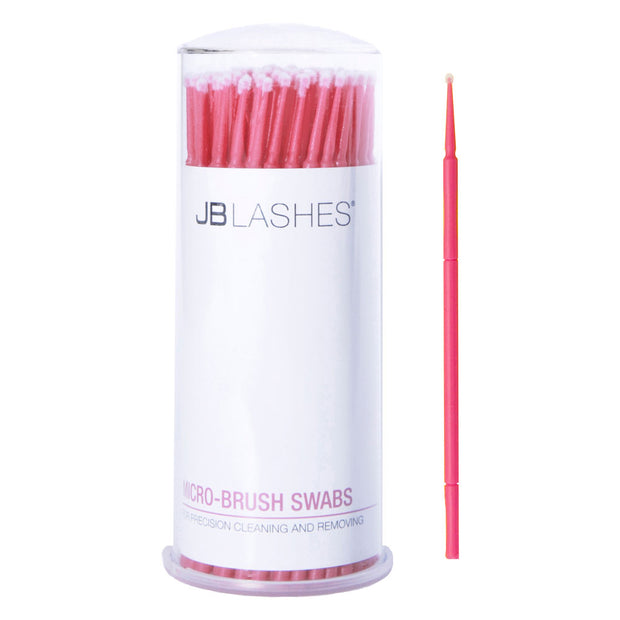 JBLashes Microbrush Swabs Pink - 100/PK