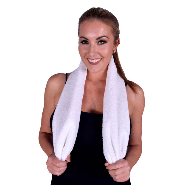 "Terry Cotton Towels 12""x 44"" - Set of 6"