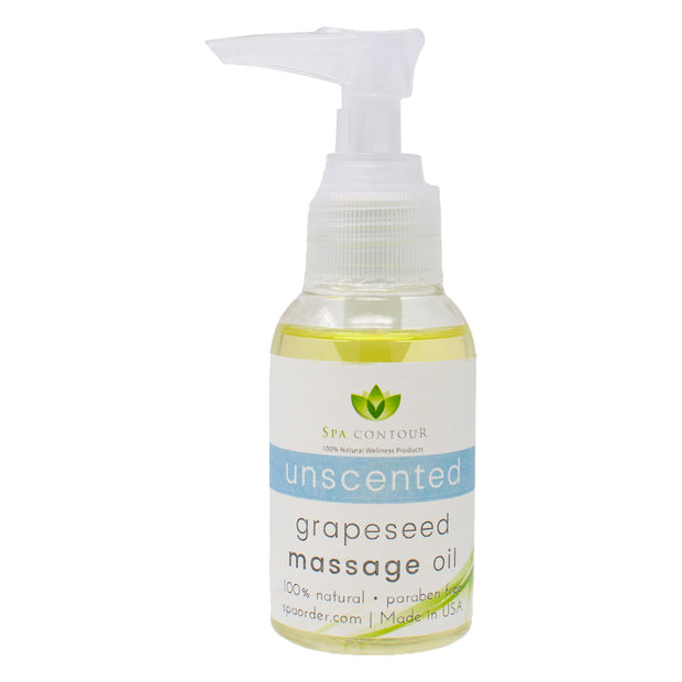 Spa Contour Grapeseed Unscented Massage Oil - 2.5 oz Sample