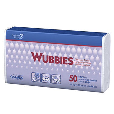 Wubbies 2-Ply Embossed Towels 50/PK