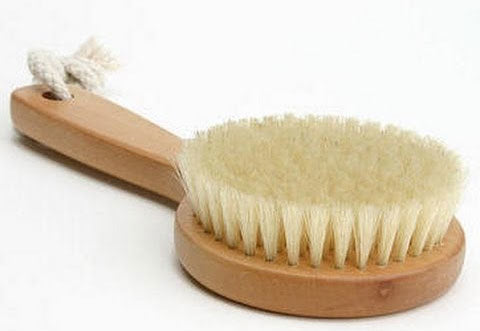 Round Natural Bristle Body Brush