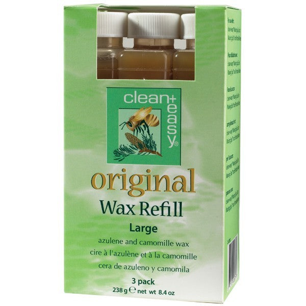 Clean+Easy Original Natural Wax Refills - Large - 3 Pack