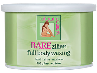 Clean+Easy BAREzilian Full Body Hard Wax 14 oz
