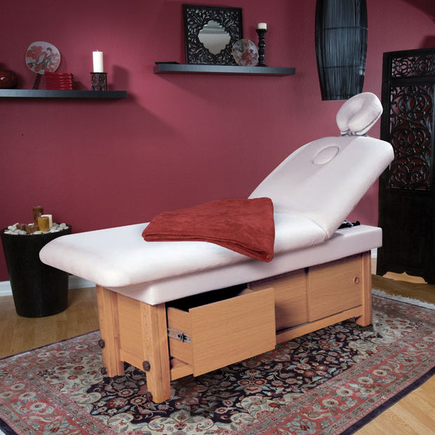 Massage Bed with Cabinet and Drawer