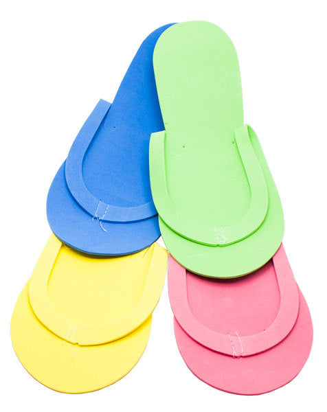 Non-Slip Pedi Slippers Pair Assorted Colors 12/PK