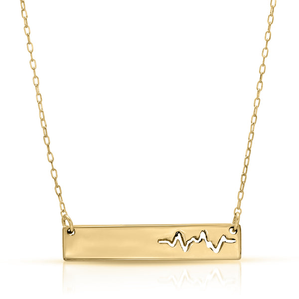 Heartbeat Bar Necklace - The W Brothers