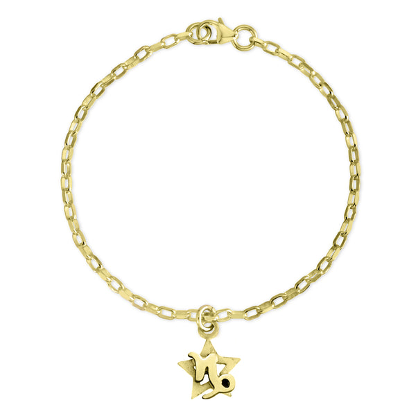 The W Brothers Sterling silver zodiac horoscope capricorn charm bracelet crafted to perfection in premium 925 Sterling silver, available in silver, real 18k gold or rose gold layering. Shop your star-signs at thewbros.com