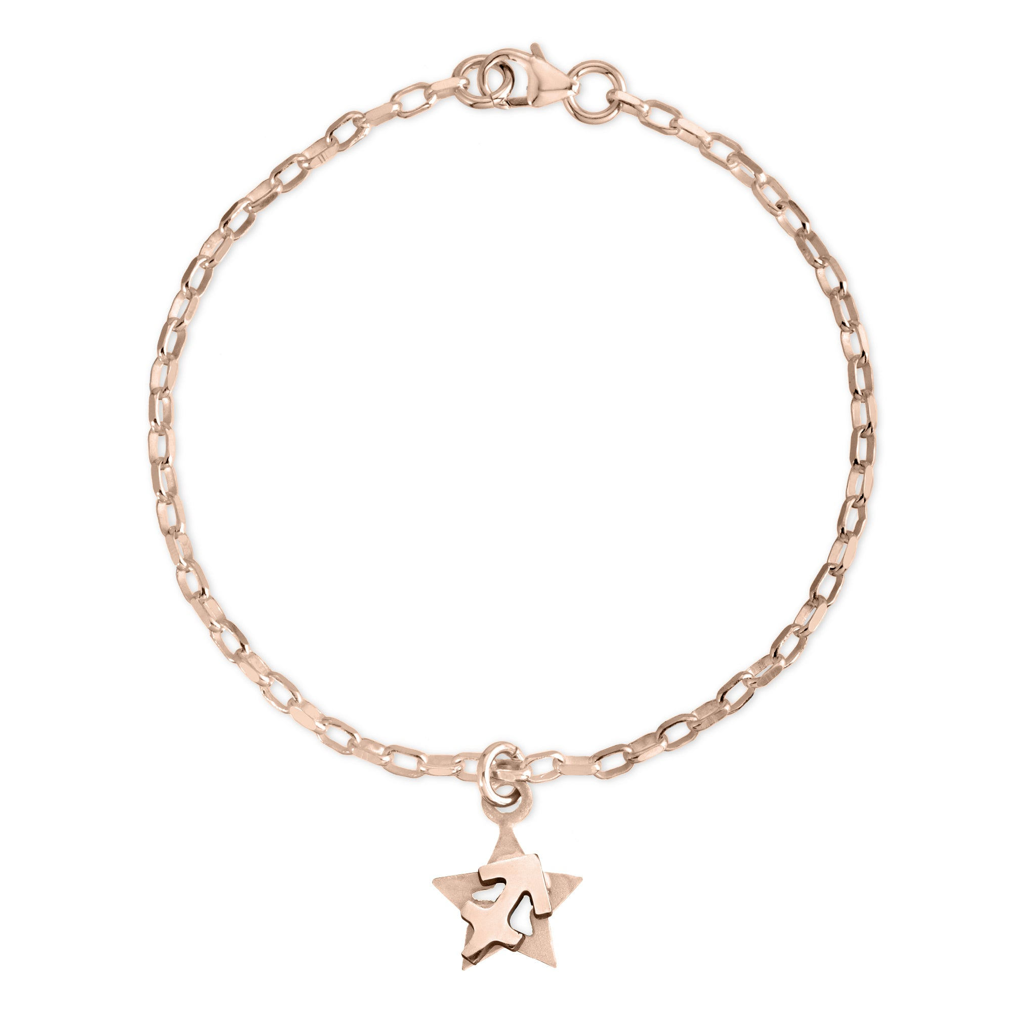 The W Brothers Sterling silver zodiac horoscope Sagittarius charm bracelet crafted to perfection in premium 925 Sterling silver, available in silver, real 18k gold or rose gold layering. Shop your star-signs at thewbros.com
