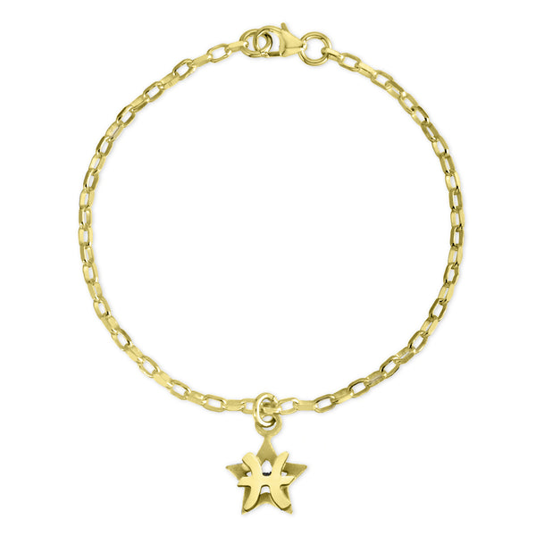 The W Brothers Sterling silver zodiac horoscope pisces charm bracelet crafted to perfection in premium 925 Sterling silver, available in silver, real 18k gold or rose gold layering. Shop your star-signs at thewbros.com