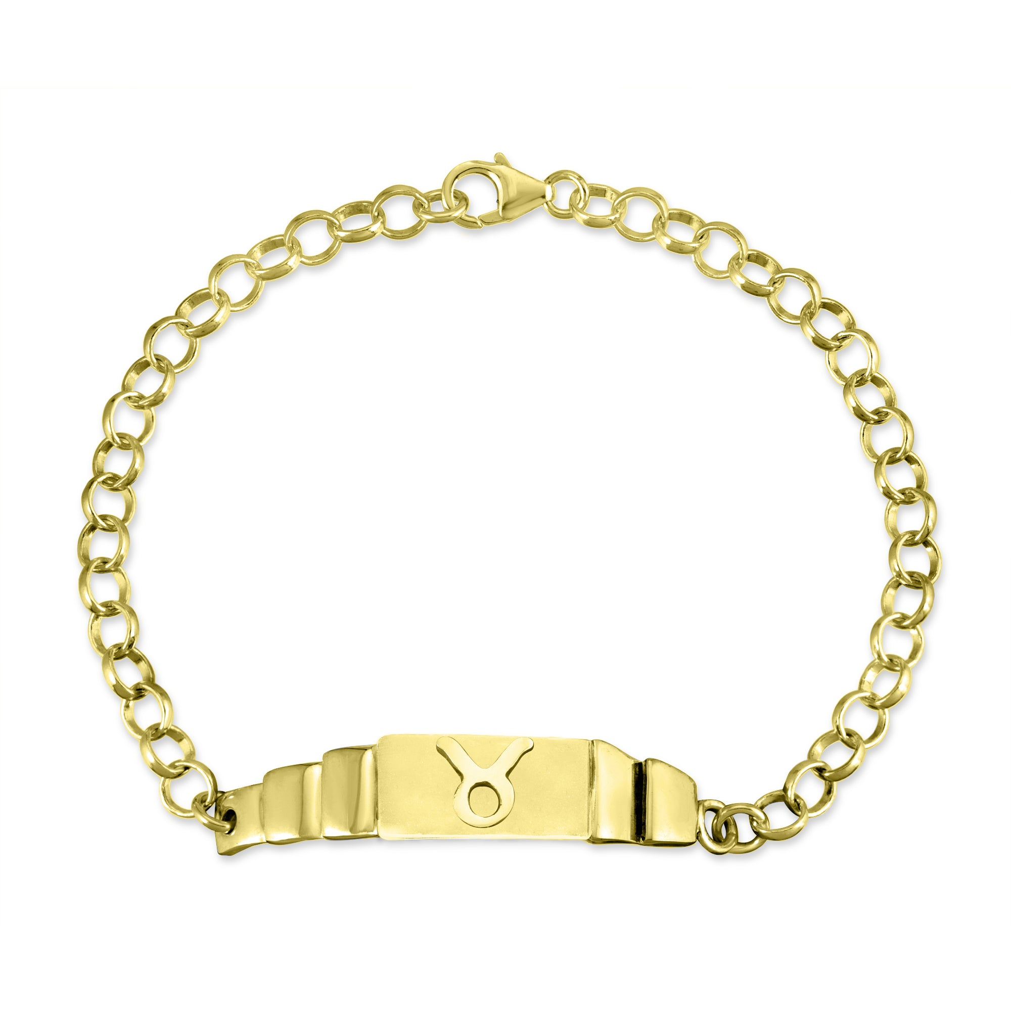 The W Brothers Sterling Silver Horoscope Taurus Zodiac Bracelet in premium sterling silver, available in real 18k gold & rose gold. Find your unique star-sign at thewbros.com