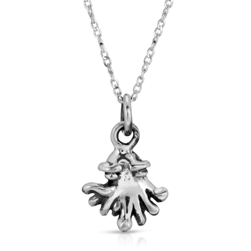 The W Brothers Baby Kraken Silver Stud Earrings & sterling silver necklace pendant crafted from 925 Sterling Silver, perfect for men and women.