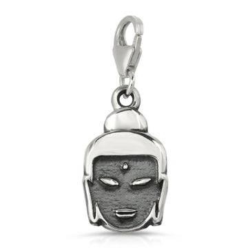 The W Brothers 925 sterling silver buddha charm head hand-crafted keychain charm pendant fashion jewelry