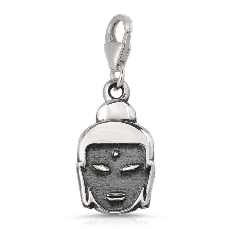 The W Brothers Premium Grade A 925 Sterling Silver Buddha Charm Necklace, perfect for a fashionable statement for men and women's jewelry accessory. Available at www.thewbros.com