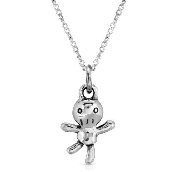 The W Brothers voodoo doll necklace pendant made with 925 sterling silver, silver girl ring, female silver ring, voodoo female ring, voodoo girl ring, voodoo doll silver ring, voodoo doll girl ring, petite stackable rings, voodoo jewelry, voodoo jewellery, women voodoo jewelry for good luck. Voodoo rings doll rings.