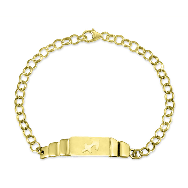 The W Brothers Sagittarius Zodiac Horoscope Bracelet paired with a sterling silver rollo chain bracelet. Crafted to perfection in 925 sterling silver, available in real 18k gold and rose gold. Shop your unique look at TheWBros.com