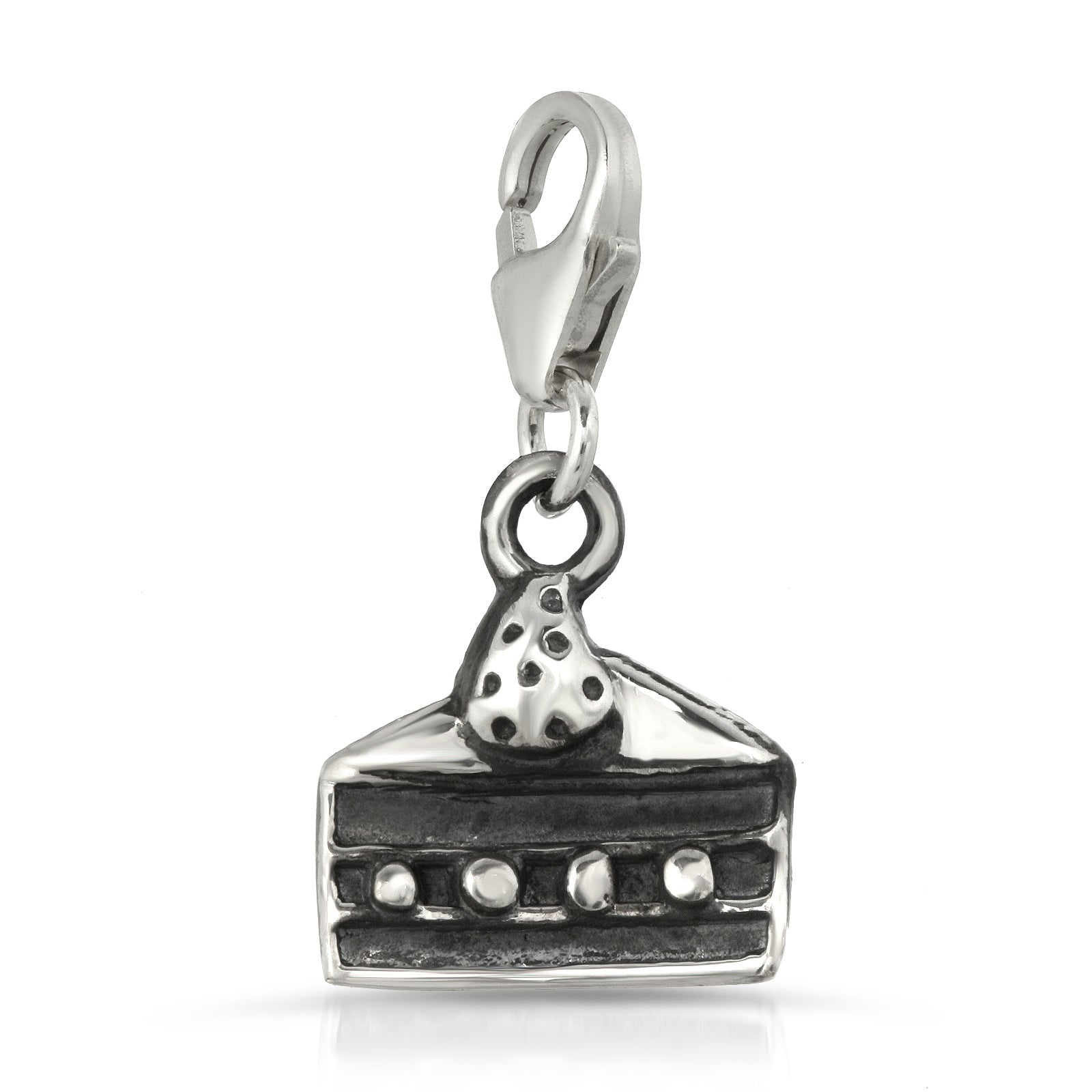 The W Brothers Premium Grade A 925 Sterling Silver Cake Charm Necklace, perfect for a fashionable statement for men and women's jewelry accessory. Available at www.thewbros.com