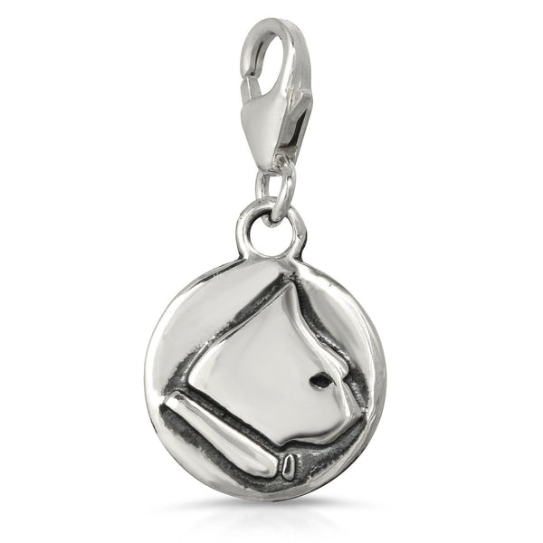 The W Brothers Premium Grade A 925 Sterling Silver Cat Charm Necklace, perfect for a fashionable statement for men and women's jewelry accessory. Available at www.thewbros.com
