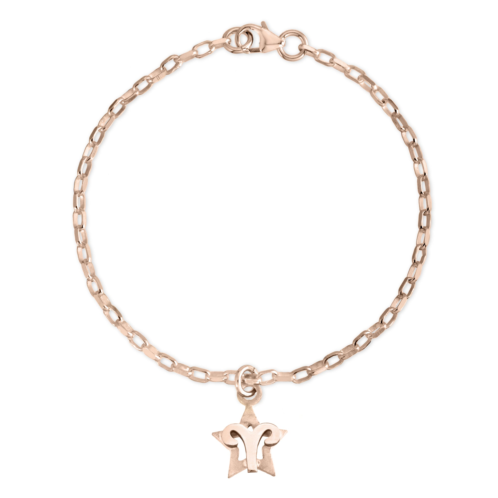 The W Brothers Sterling silver zodiac horoscope aries charm bracelet crafted to perfection in premium 925 Sterling silver, available in silver, real 18k gold or rose gold layering. Shop your star-signs at thewbros.com