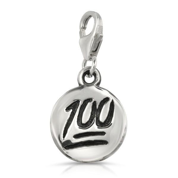 The W brothers 100 Charm Necklace featuring our handcrafted 100 Charm, designed from premium Grade A 925 Sterling Silver, perfect for a fashionable & cute look for men and women. Available at www.thewbros.com