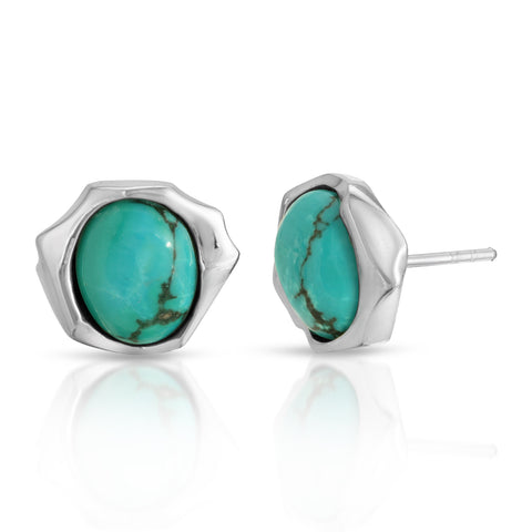 Geometric Turquoise Earrings