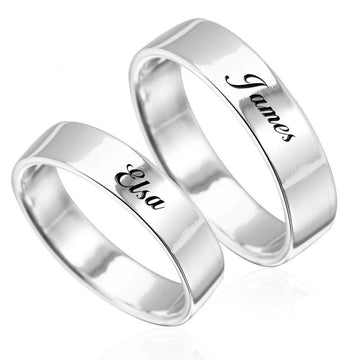 The W Brothers Design Your Own Custom Wedding Band for male and female, him and her, with custom engravings or additional swarovski crystals.