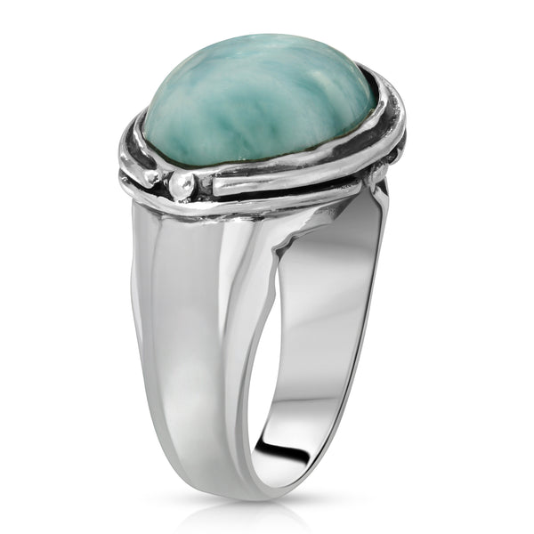 Larimar Oval Ring - The W Brothers