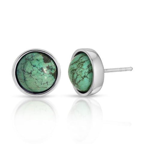 Turquoise Round-Cut Earrings