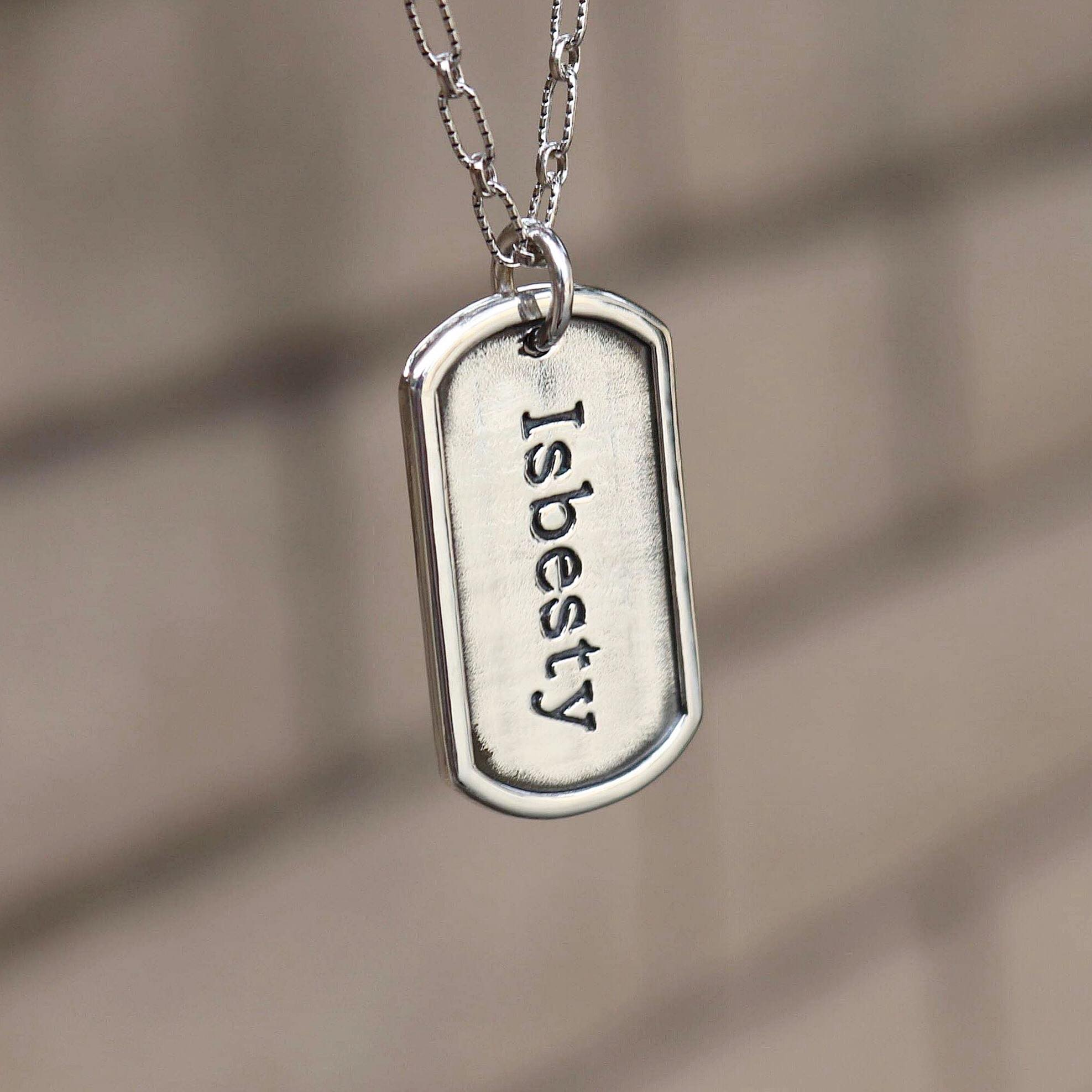 The W Brothers hand-crafted 925 Sterling Silver Dog Tag available for engravings on the front & back, available in premium sterling silver or layered with real 18k Gold & Rose Gold plating. Shop your dog tag or solid gold jewelry options only at thewbros.com