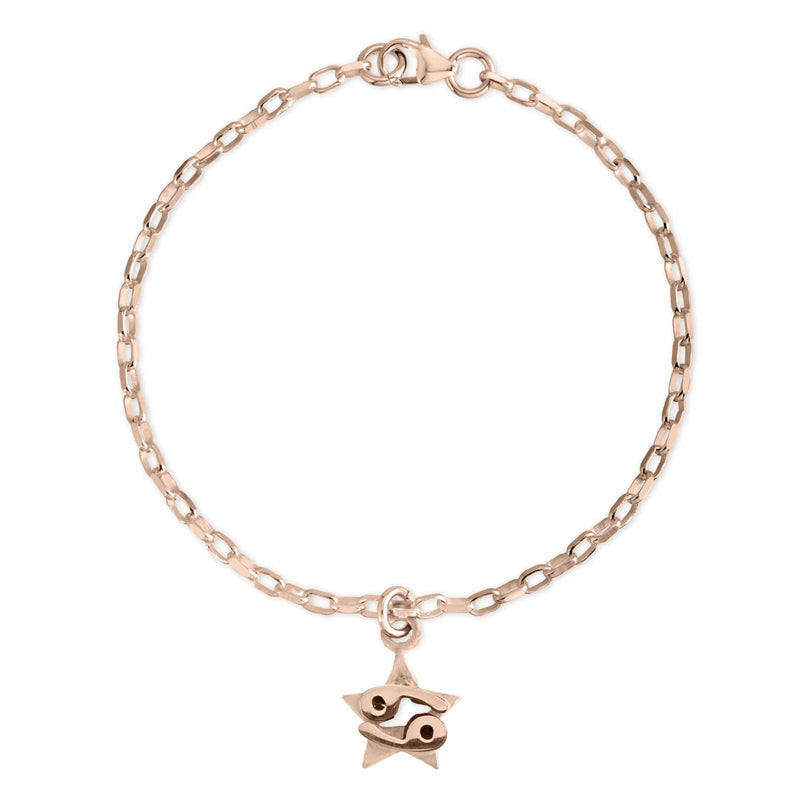 The W Brothers Sterling silver zodiac horoscope Cancer charm bracelet crafted to perfection in premium 925 Sterling silver, available in silver, real 18k gold or rose gold layering. Shop your star-signs at thewbros.com