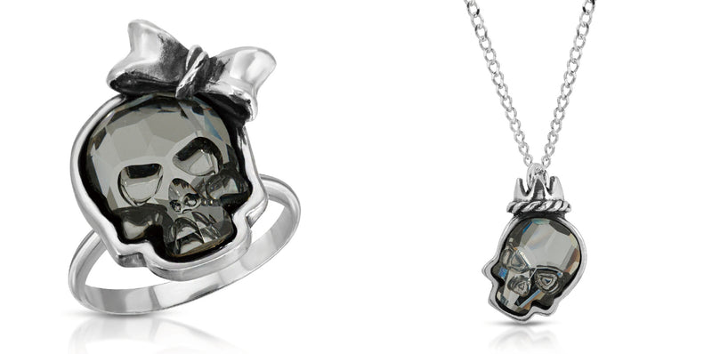 Black Crystal Crown Skull Set