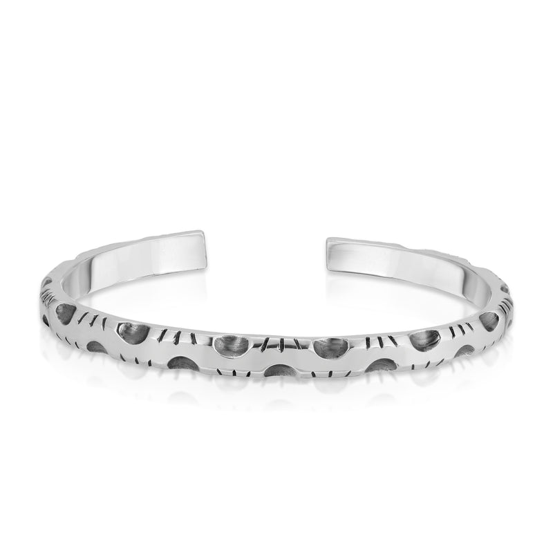 Relic Cuff Bracelet (3 Cut) - The W Brothers hand-crafted premium Grade A Sterling silver 925 relic cuff bracelet geometric collection solid sterling silver bracelet mens fashion accessories accessory