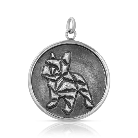 Geometric French Bull Dog Mini Pendant