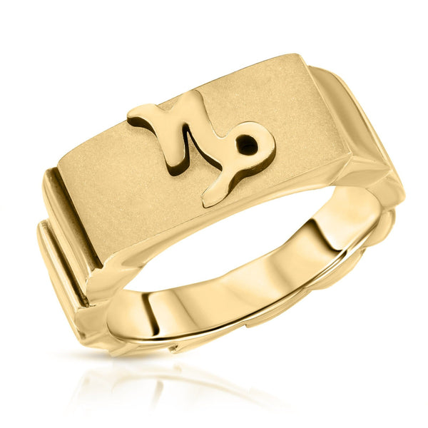 The W Brothers Premium Grade A 925 Sterling Silver Capricorn Horoscope Zodiac Ring, perfect for a fashionable statement for men and women's jewelry accessory. Available in silver, gold, rose gold at www.thewbros.com