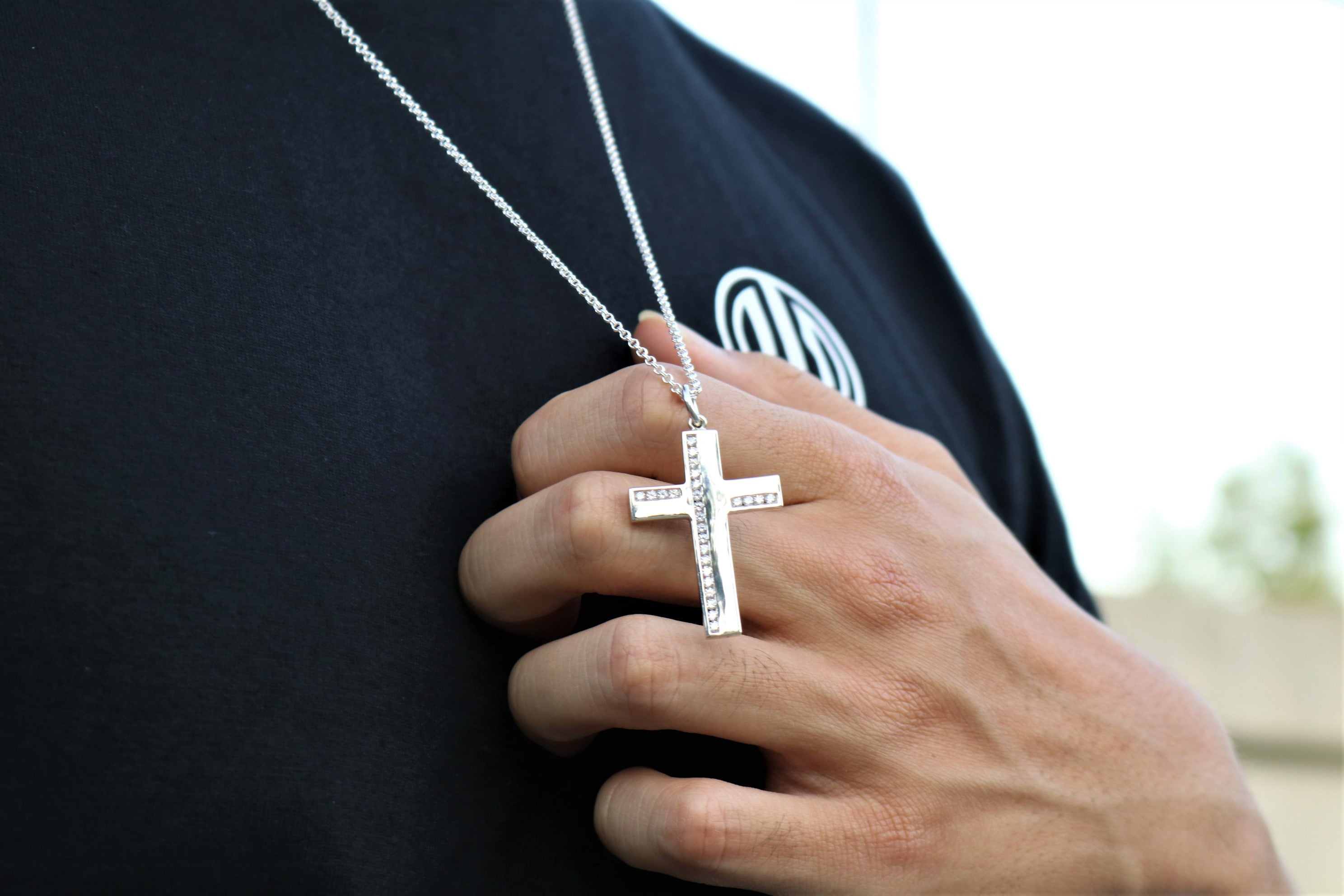 The W Brothers Premium Grade A 925 Sterling Silver Celestial Cross. Our Celestial Cross is a contemporary, modern-generation designed Cross crafted for the symbol of the new millennium. Perfect for a fashionable statement for men and women's jewelry accessory. Available at www.thewbros.com