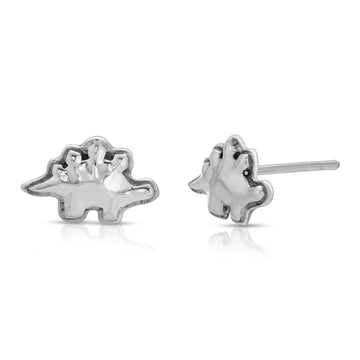 The W Brothers Stegos Stud Earrings crafted from premium 925 Sterling Silver, perfect for women's fashion.