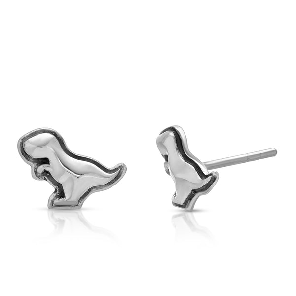 The W brothers Dinosaur Collection featuring our handcrafted T-Rex stud Earrings, designed from premium Grade A 925 Sterling Silver, perfect for a fashionable & cute look for men and women. Available in silver, gold and rose gold at www.thewbros.com
