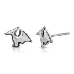 The W brothers Dinosaur Collection featuring our handcrafted Ptero stud Earrings, designed from premium Grade A 925 Sterling Silver, perfect for a fashionable & cute look for men and women. Available in silver, gold and rose gold at www.thewbros.com
