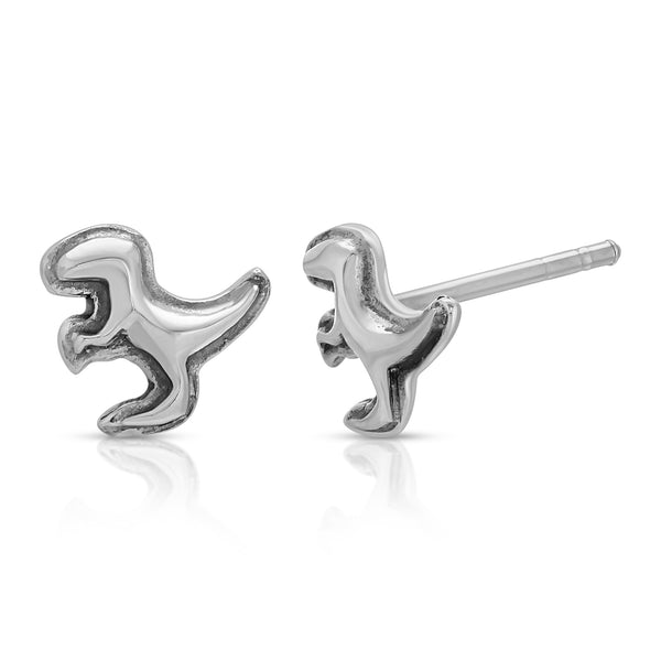The W brothers Dinosaur Collection featuring our handcrafted Raptor Stud Earrings, designed from premium Grade A 925 Sterling Silver, perfect for a fashionable & cute look for men and women. Available in silver, gold and rose gold at www.thewbros.com