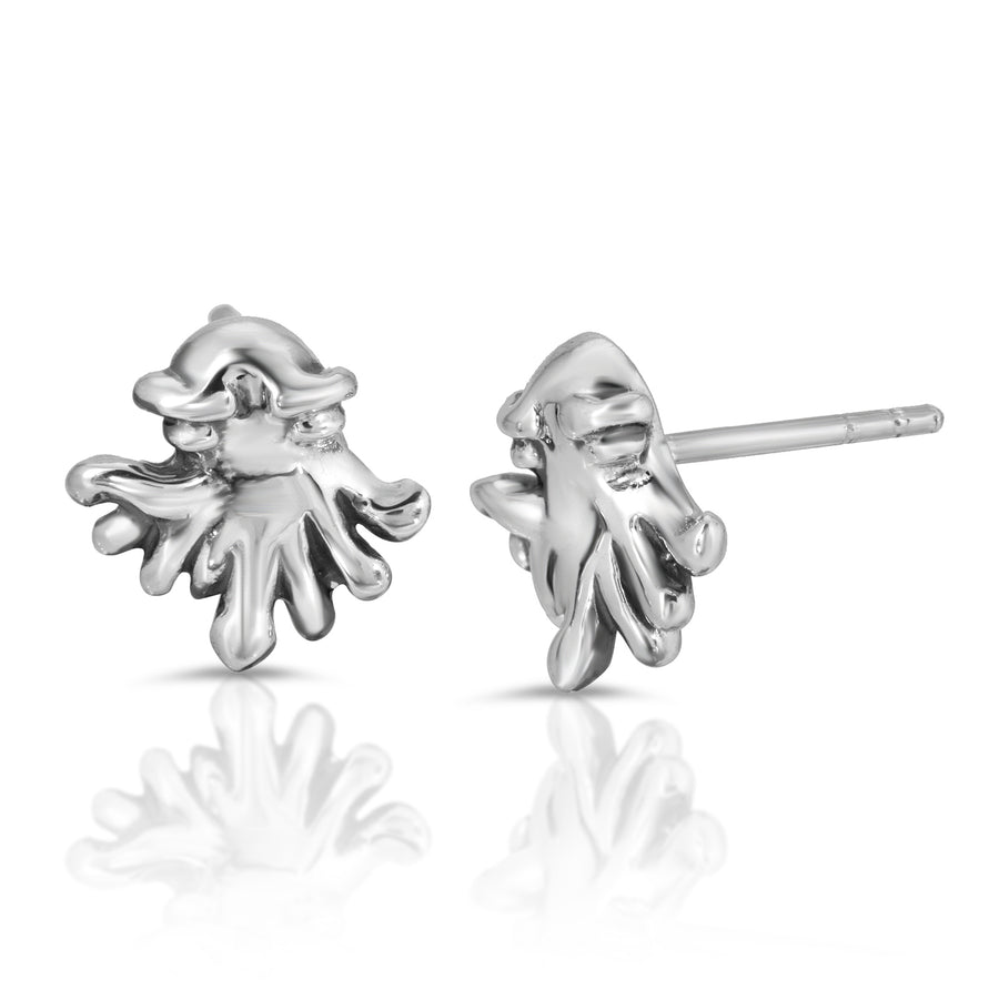 The W Brothers Baby Kraken Silver Stud Earrings crafted from 925 Sterling Silver, perfect for men and women.