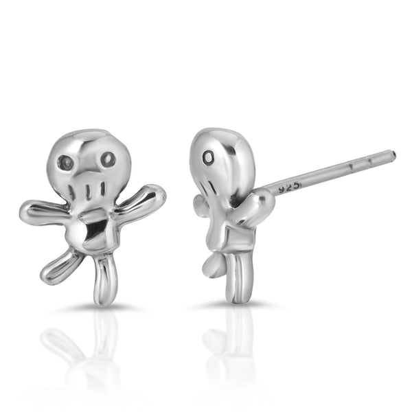 The W brothers Monsterz Collection featuring our handcrafted Voodoo Doll Stud Earrings, designed from premium Grade A 925 Sterling Silver, perfect for a fashionable & cute look for men and women. Available in silver, gold and rose gold at www.thewbros.com