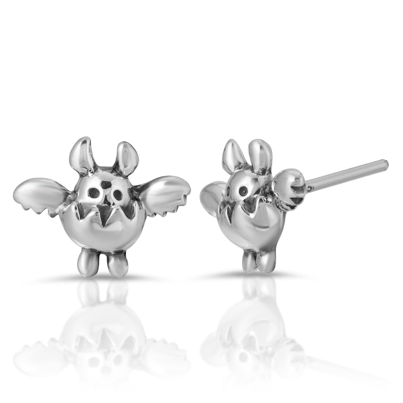 The W brothers Monsterz Collection featuring our handcrafted Egg Monster Stud Earrings, designed from premium Grade A 925 Sterling Silver, perfect for a fashionable & cute look for men and women. Available in silver, gold and rose gold at www.thewbros.com