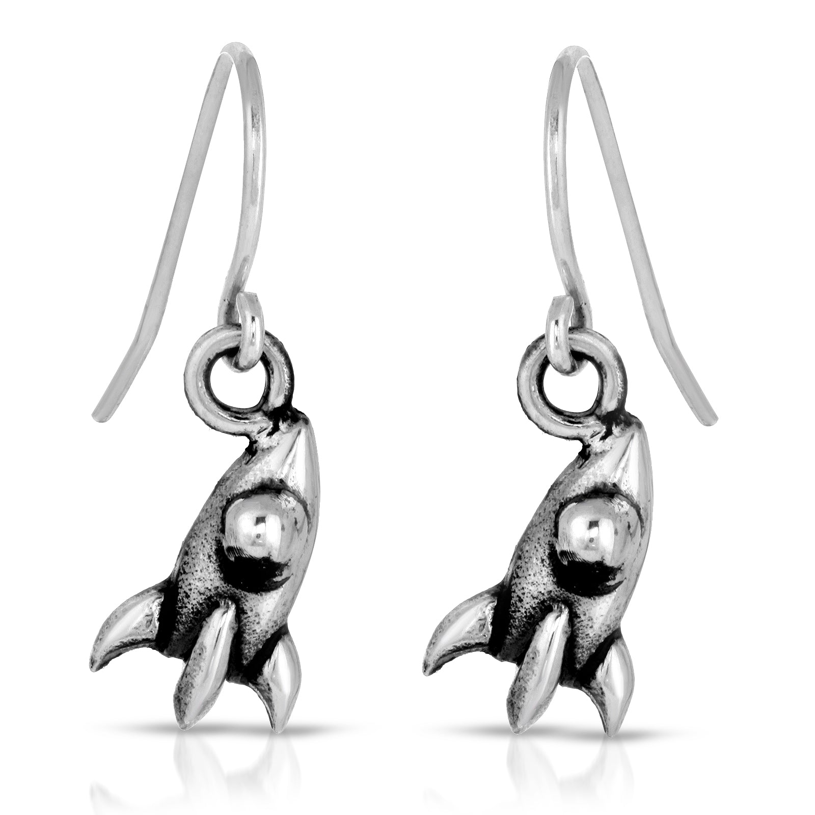 The W Brothers Area 51 Space Collection featuring our Sterling Silver Rocket Dangle Earrings perfect for women fashion. Designed from premium Grade A silver, available at www.thewbros.com, NASA rocket ship Area 51 earrings