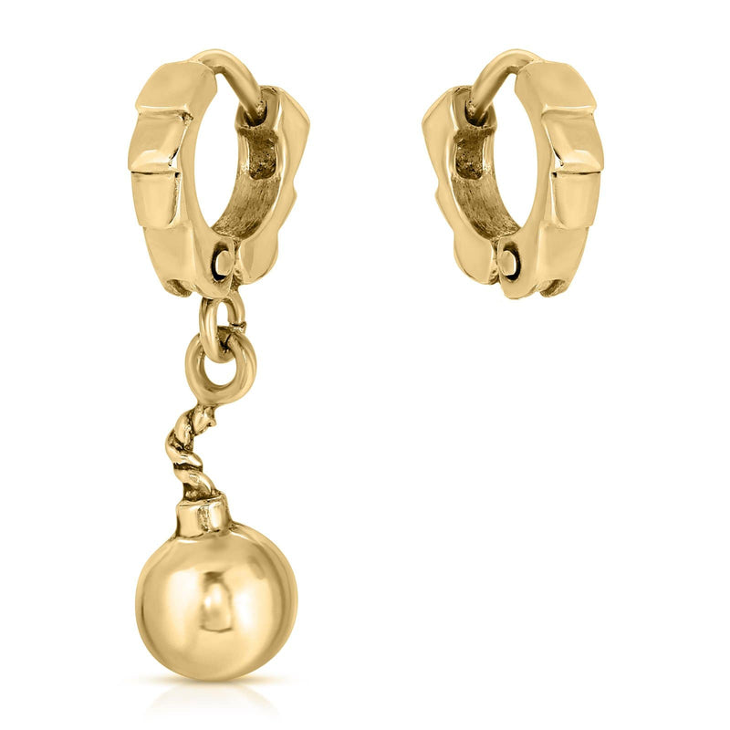 The W Brothers Premium Grade A 925 Sterling Silver Asymmetrical Bomb Earrings, perfect for a fashionable statement for men and women's jewelry accessory. Available in silver, gold, rose gold, black nickel at www.thewbros.com