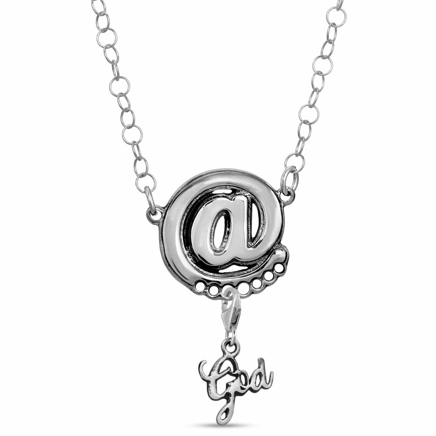 Sterling Silver @ sign pendant necklace chain add charm collection by The W Brothers