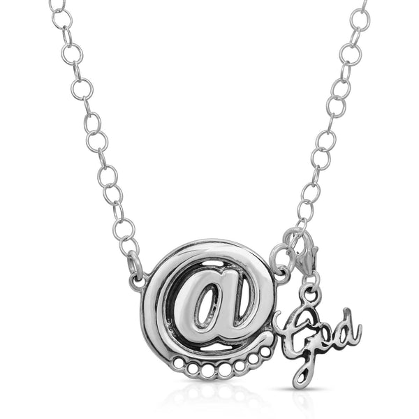 The W Brothers Premium Grade A 925 Sterling Silver At Sign @ Charm Pendant, perfect for a fashionable statement for men and women's jewelry accessory. Available at www.thewbros.com