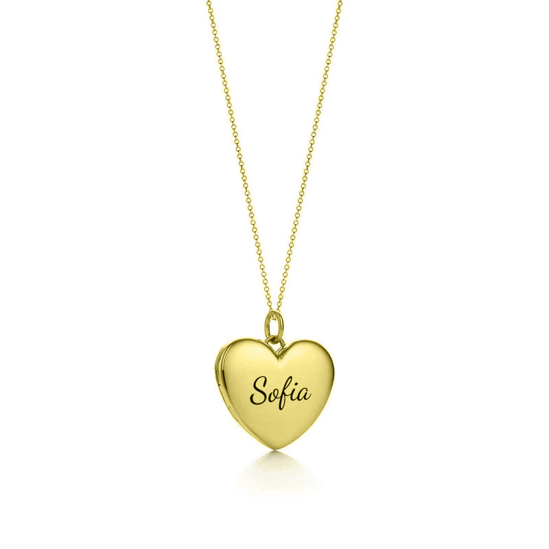 Engravable Heart Pendant - The W Brothers