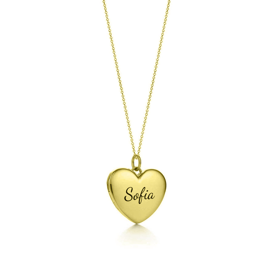 Custom name heart pendant charm necklace, customized heart jewelry necklace in 14k gold rose gold, 925 sterling silver.