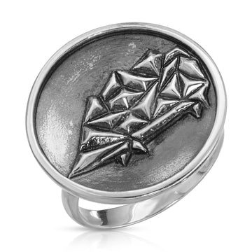 The W Brothers 925 Sterling Silver Geometric Porcupine Ring