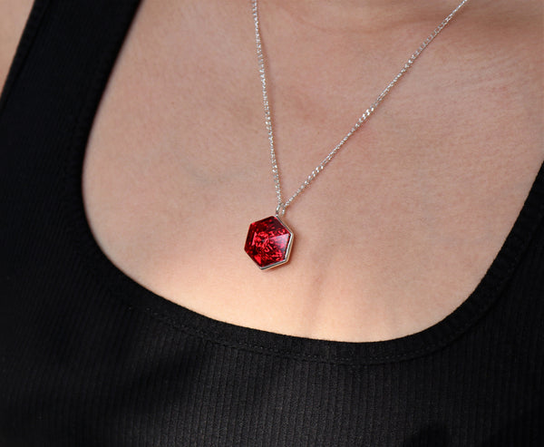 Siam Swarovski Hexagon Pendant (18 mm) - The W Brothers